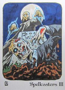 Perna Studios Spellcasters III 3 1/1 Sketch Card - Peejay Catacutan