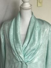 Christie & Jill Blouse Aqua Paisley Womens Size 16 Long Sleeve Shirt