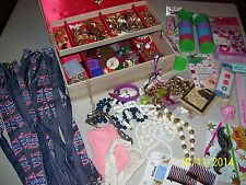 LOT OF VINTAGE JEWELRY, FILLED JEWELRY BOX TREASURES PLUS SOME NEW STUFF,  FS