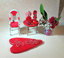 VINTAGE PETITE PRINCESS DOLLHOUSE HOST DINING CHAIR & HANDCRAFTED HOME DECOR