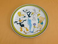 "VINTAGE 11 3/4"" 1974 WARNER BROS ROAD RUNNER TWEETY SYLVESTER METAL SERVING TRAY"