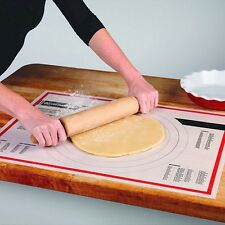 "Tovolo Pastry Dough Mat Prep Nonstick Silicone 18""X25"" Ruler Conversions Holiday"