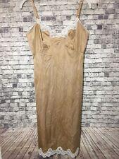Beautiful La Tendresse Beige Slip Size 34 Nylon Sliky