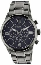 NEW-FOSSIL OTHER ME GREY S/STEEL+ BLUE ROMAN #'S DIAL,CHRONOGRAPH WATCH BQ1126