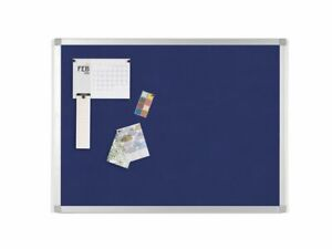 Staples Aluminium Frame Blue Felt Board, 1200 x 900mm Free P&P! Amazing Quality!