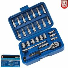 26 Pc Screwdriver Socket Set Ratchet Bit Torx Philips Hex Screw 1/4 Drive 01525
