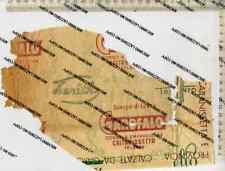 VC 091901 FRAMMENTO CARTA IMBALLO SCARPE GAROFALO CALTANISSETTA
