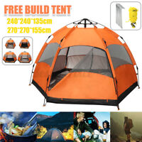Waterproof Automatic 5-6 People Outdoor Instant Tent Beach Camping Hiking US