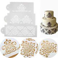 Baking Tool Kitchen Cake Border Stencil Damask Lace Flower Mould Fondant