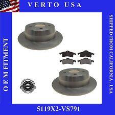 Set Of 2 Rear Disc Brake Rotors & Pads  fits 99-04 Grand Cherokee  5119X2-VS791