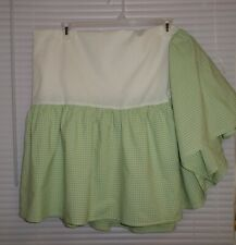 Pottery Barn Kids Green Gingham Check Bed Skirt Dust Ruffle Twin