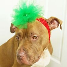 Red Headband with Green Flower for Dogs - Christmas -New-  FREE SHIPPING