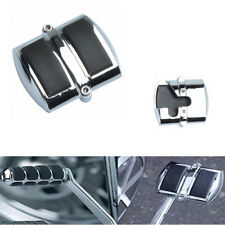 Silver & Black Motorcycle Brake Foot Pegs Pad Cover For Yamaha V-Star Classic