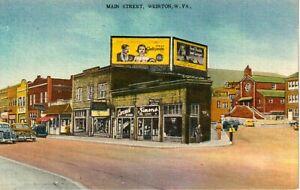 1940's Main Street in Weirton, WV West Virginia PC