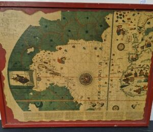 """The Old World Wood Map 25""""x20"""""""