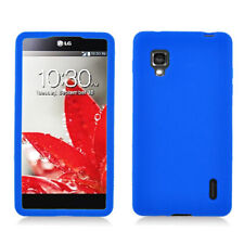 For Sprint LG Optimus G Rubber SILICONE Soft Gel Skin Case Phone Cover Dark Blue