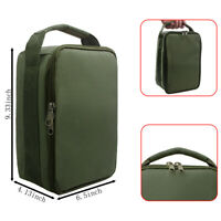 Army Green Outdoor Fishing Line Reel Gear Case Bag Carry Storage Tackle Case