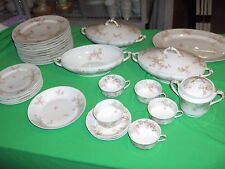 32 Pc Set Haviland Limoges China Sch. 29a Pink Flowers France NICE