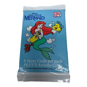 1 pack The Little Mermaid vintage Trading Cards 1991 Pro Set Disney sealed