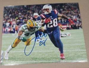 James White New England Patriots NFL Signed Autographed Star 8x10 Photo