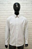 JECKERSON Camicia Uomo Taglia L Polo Camicetta Manica Lunga T-Shirt Men's Righe