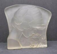 """Figural Deco Art Nouveau Frosted Glass Lady Woman panel Figure Statue 9.5"""""""