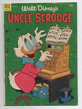 DELL COMICS  WALT DISNEY'S UNCLE SCROOGE  5  1954  LOWER GRADE