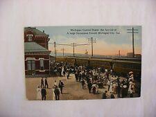 VIntage Postcard Railroad Depot Michigan City Indiana IN #1429