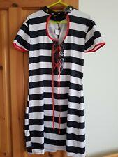Black White Dress fancy dress costume choker corset chest beetlejuice STAG DO
