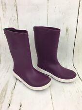 Kamik Girls' Riptide Rain Boots Dark Purple Rubber 13