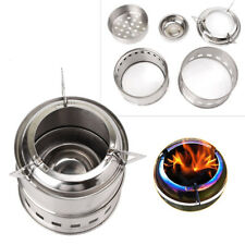 Wood Stove Backpacking Wood Burning Camping Stove Outdoor Stainless Steel