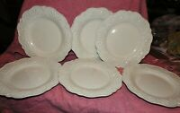 Set of 6 JCP JC Penney Chris Madden ADALINA IVORY Pattern 11 Inch Dinner Plates