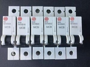 Wylex NHXB Range MCB - NHXB06 NHXB10 NHXB16 NHXB20 NHXB32 NHXB40 NHXB50