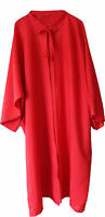 Hairdressing Gown Cape With Sleeves Tie Neck RED. Polyester. Code Dolly