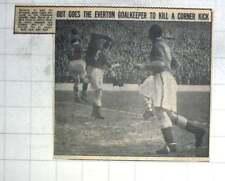 1950 Everton Goalkeeper Burnett Robs Charlton Outside Right Hurst