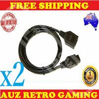 2x Controller Extension Cable For Sega Megadrive Mega Drive Master System