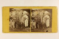 UK Pays Da Galles Abbaye Da Tintern Ruines Foto Stereo Vintage Albumina c1865