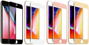 3x For iPhone 7/8 Plus Full Coverage Tempered Glass Screen Protector Cover Film