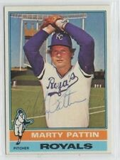 Marty Pattin 1976 Topps signed auto autographed card Royals