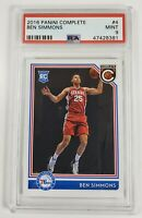 2016-17 Panini Complete Ben Simmons #4 - Rookie RC PSA 9
