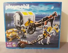 Playmobil 4874 Lion Knights Treasure transport with cannon, box, castle figures