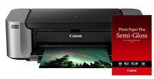 New Canon PIXMA PRO-100 Color Professional Inkjet Photo Printer + Paper SG-201