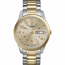 Timex TW2P67400, Easy Reader, Men's, 2-Tone Expansion Watch, Indiglo, Day/Date