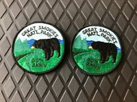 Vintage 1984 Great Smoky Mountains 50th Anniversary Iron-On Patch, Lot of 2