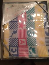 Riegel Baby Blanket Vintage Star Balloon Yellow Blue Red Green Acrylic Vintage