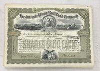 Boston and Albany Railroad Company Stock Certificate WWII Era