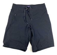"Patagonia Men's Board Shorts Swim Trunks Size 31 Black 10"" Inseam Nylon"