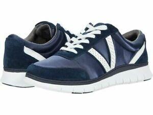 NEW IN BOX NIB Women's Vionic, Fresh Nana Satin Sneakers NAVY Orthopedic