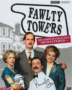 Prunella Scales & Connie Booth Hand Signed 8x10 Photo, Autograph Fawlty Towers F
