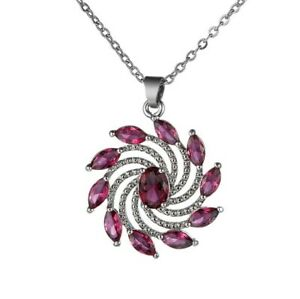 Special Shine Oval Rose Kunzite Silver Hot Wheels Necklaces Pendants With Chain